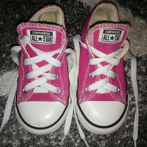 Shoes - Toddler Girl's Pink Low Top Converse